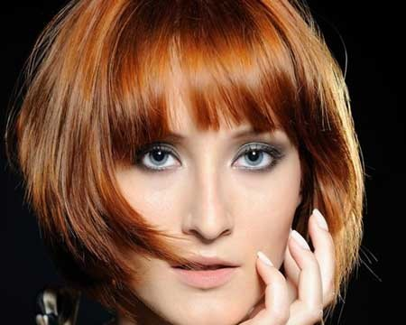 Awesome-Asymmetric-Bob-Hair-with-Fantastic-Bangs Hair Color for Short Hair 2019