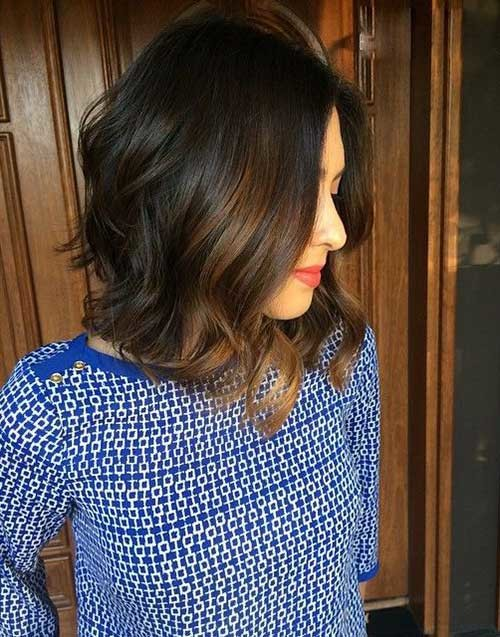 Balayage-Dark-Hair-Bob Best Must-Try Brunette Bob Haircuts