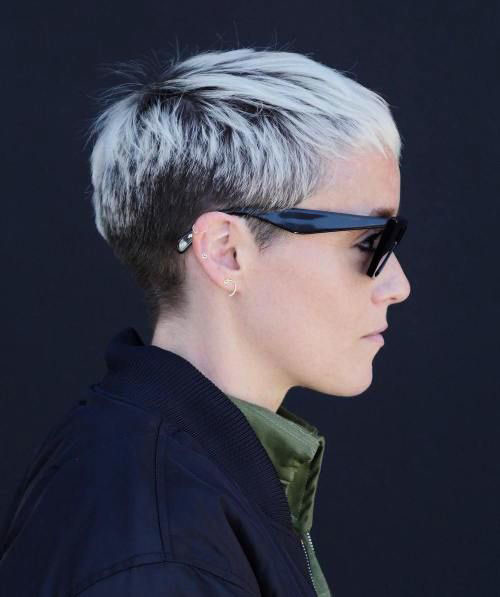 Bleached-Pixie Short Pixie Haircuts for Pretty Look
