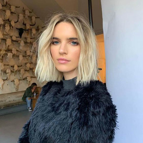 Blonde-Hair-4 Best Wavy Bob Hairstyles You will Like