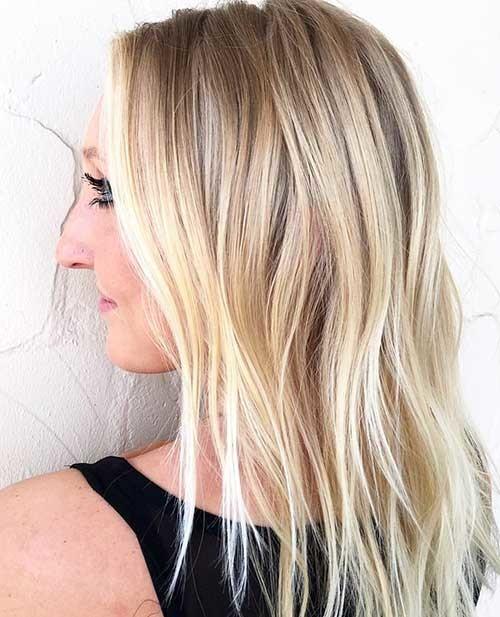 Blonde-Lob Striking Short Hair Ideas for Blondies