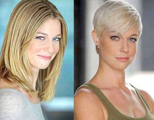 Blonde-Pixie-1 Before and After Pics of Short Haircuts