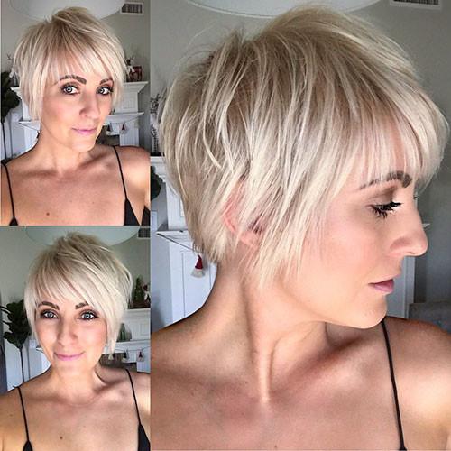 Blonde-Pixie-Cut-Hair Best Short Layered Pixie Cut Ideas 2019