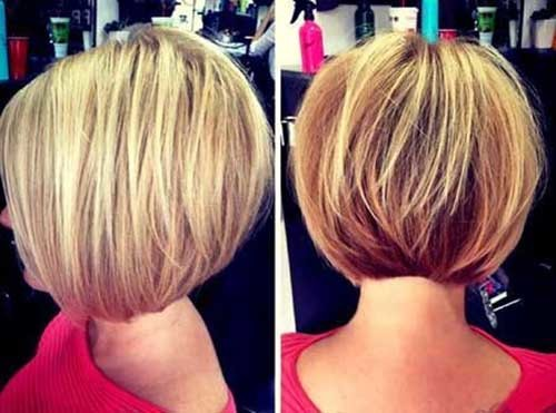 Blonde-Short-Stacked-Hair Short stacked haircut
