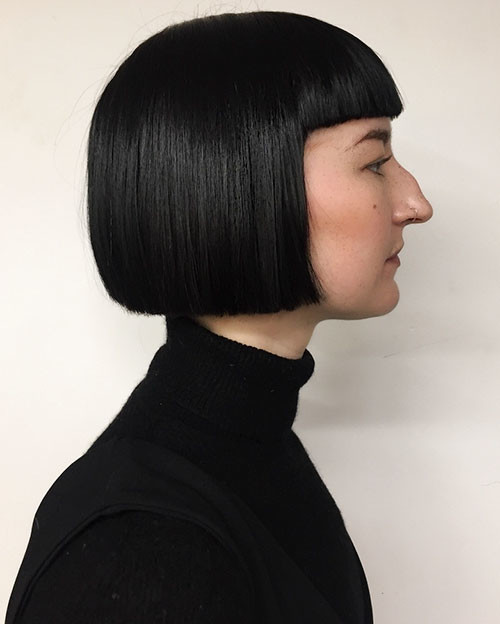 Blunt-Bob-With-Bangs-1 Populer Blunt Bob With Bangs 2019