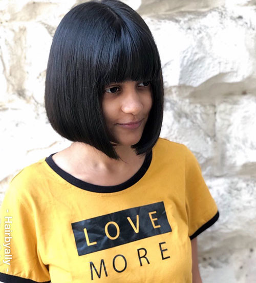 Blunt-Bob-With-Bangs-2 Populer Blunt Bob With Bangs 2019