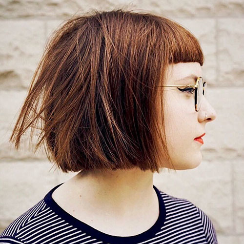 Blunt-Bob-With-Bangs-3 Populer Blunt Bob With Bangs 2019