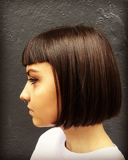 Blunt-Bob-With-Bangs-4 Populer Blunt Bob With Bangs 2019