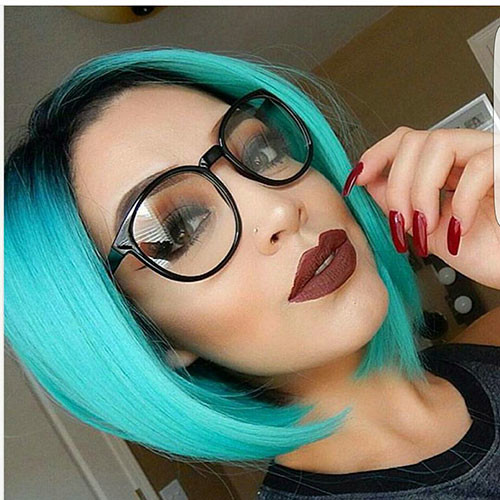 Bob-Hair Popular Short Blue Hair Ideas in 2019