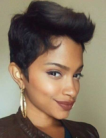 Bold-Amazing-Pointy-Pixie Hairstyles for Black Women with Short Hair