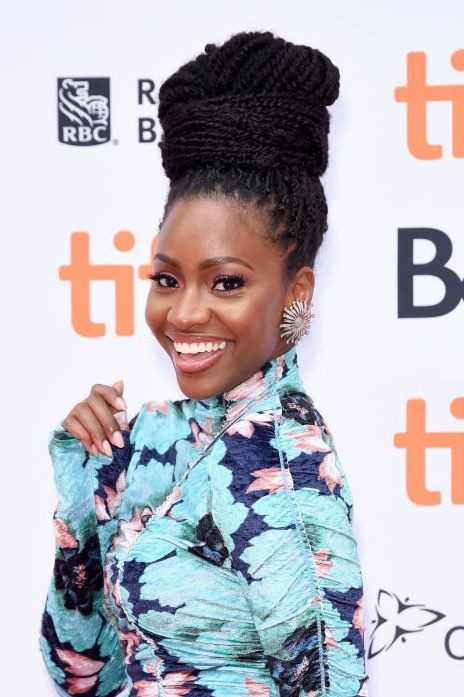 Box-Braid-Top-Knot Easy Natural Hairstyles for Black Women