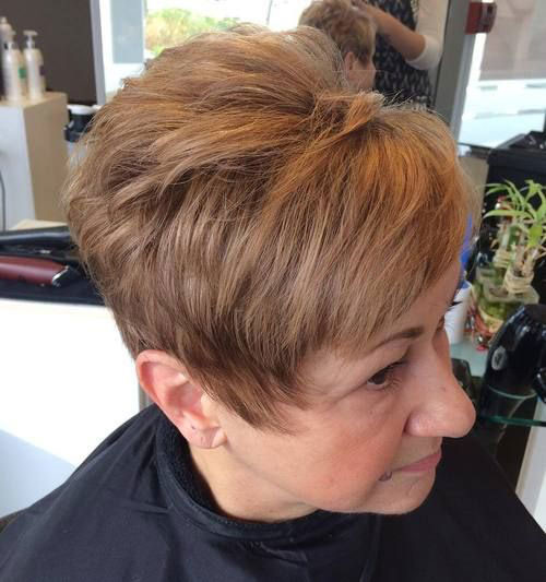 Brown-Pixie-Haircut Best Short Haircuts for Women Over 50