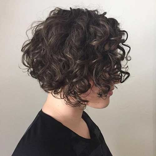 Chin-Length-Curly-Bob Very Popular Curly Short Hairstyles Every Lady Need to See