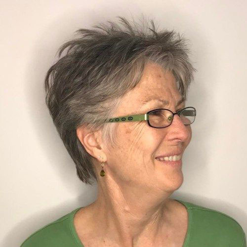 Choppy-Pixie Best Short Haircuts for Women Over 50
