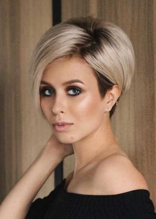 Classic-and-Easy-Short-Haircut Simple Short Hairstyles for Pretty Women