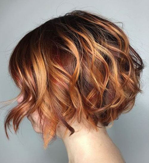 Copper-Colored Best Wavy Bob Hairstyles You will Like