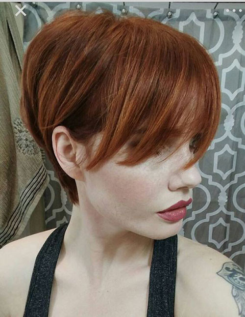 Copper-Red Trendy Hair Colors for Short Hair for Ladies