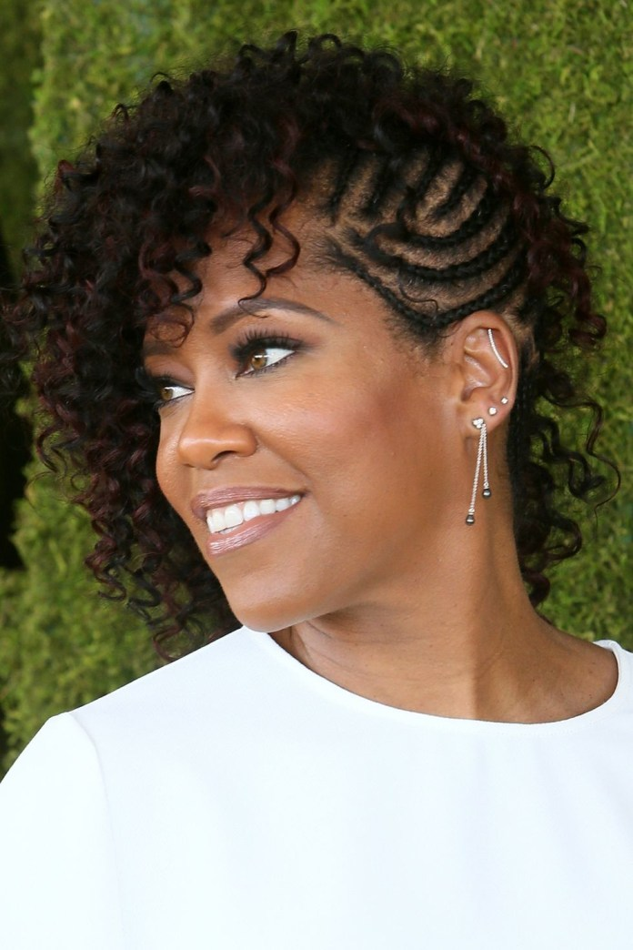 Curls-and-Cornrows Best Short Hairstyles for Black Women