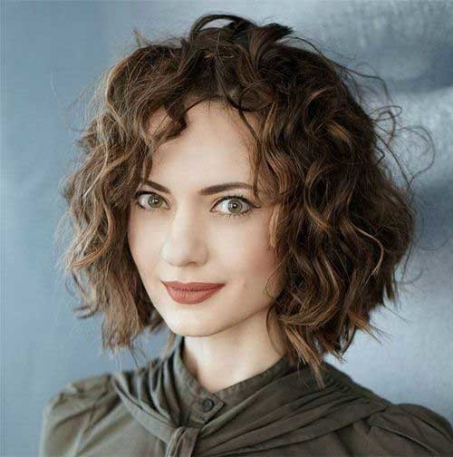 Curly-Bob-Hairstyle Curly Bob Hairstyles for Chic Women