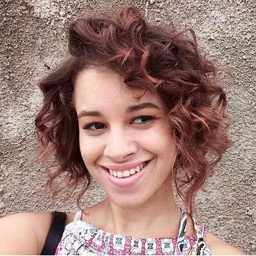 Curly-Copper-Red-Bob Trending Style for Summer: Curly and Wavy Hairstyles