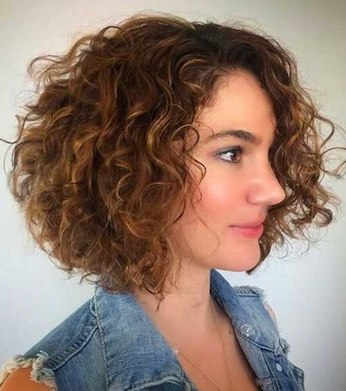 Curly-Permed-Bob Very Popular Curly Short Hairstyles Every Lady Need to See