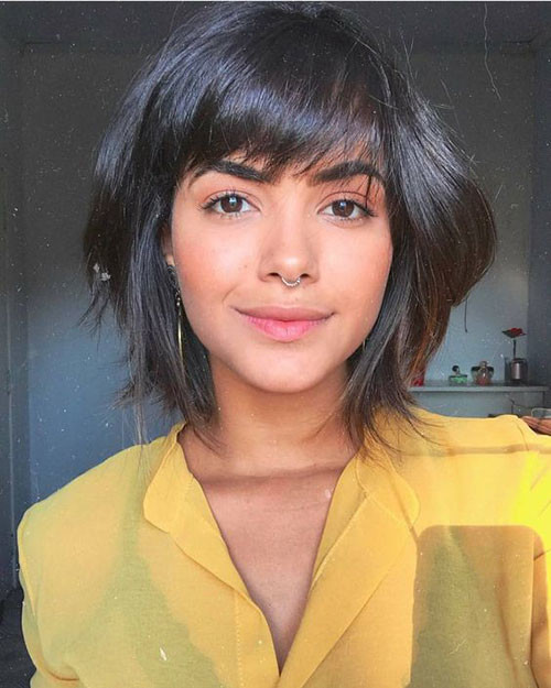 Cute-Bob-for-Brunettes Cute Short Haircuts and Styles Women