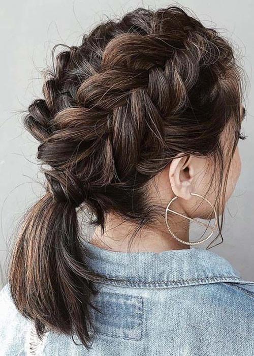Cute-French-Braids-For-Short-Hairstyle Best French Braid Short Hair Ideas 2019