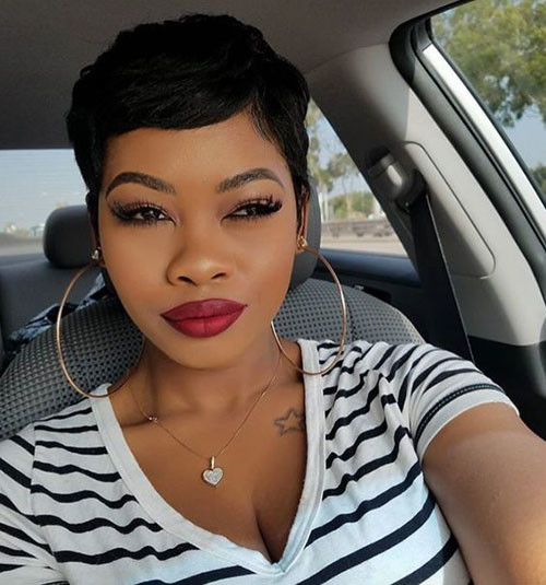 Cute-Short-Pixie-Style In Style Short Haircuts for Black Women