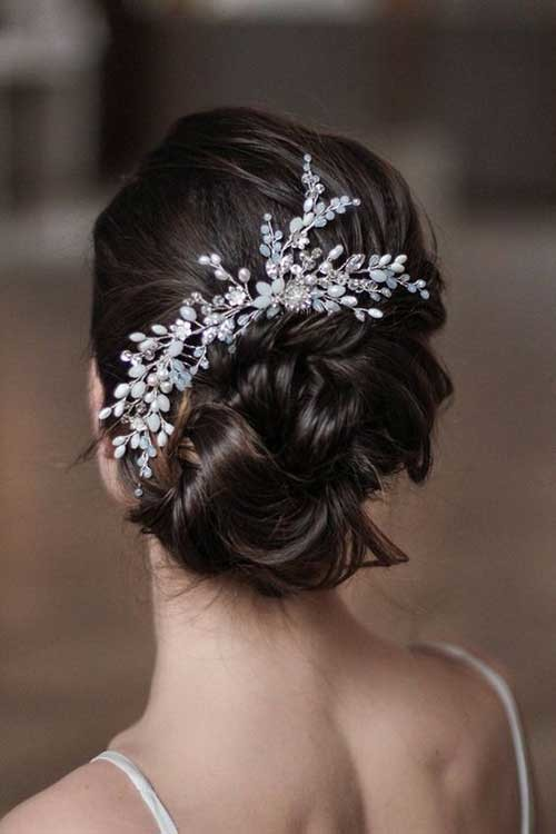 Cute-Updo Best Short Hairstyles for Wedding You Should See