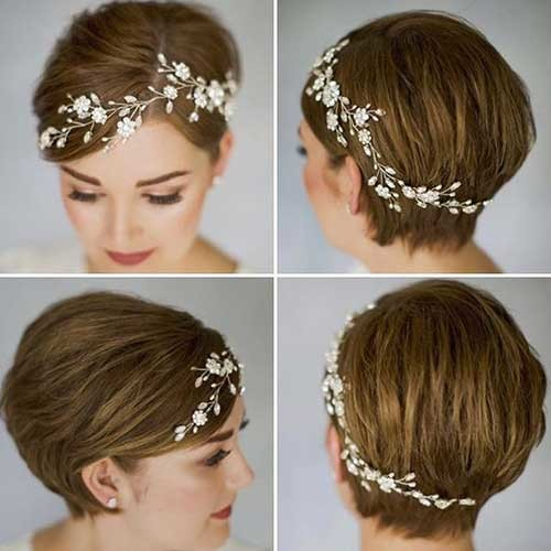 Cute-Wedding-Hair-Piece Best Short Hairstyles for Wedding You Should See