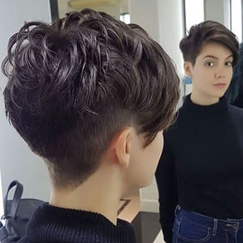 Dark-Brown-Boyish-Short-Hairstyle Short Brown Hairstyles for Fashionable Women