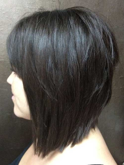 Dark-Stacked-Short-Haircut Short stacked haircut