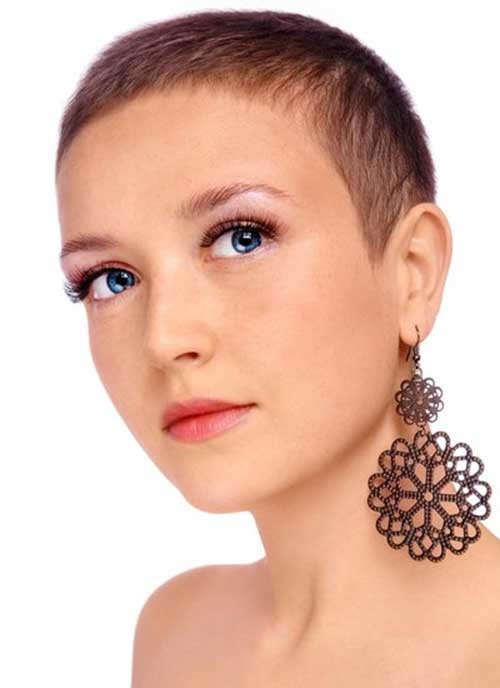 Extremely-Short-Simple-Hair Womens Short Hairstyles for Thin Hair