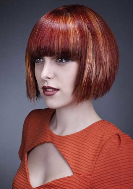 Fabulous-and-Attractive-Blunt-Ends-Bob-Hair Hair Color for Short Hair 2019