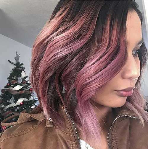 Faded-Hair-Color Nice Short Hairstyle Ideas for Teen Girls