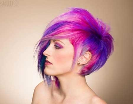 Fantastic-Pixie-Cut-with-Awesome-Bangs-and-Amazing-Color-Combination Hair Color for Short Hair 2019
