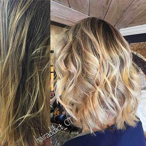 Gorgeous-Bob-Hair-with-Waves Trending Style for Summer: Curly and Wavy Hairstyles