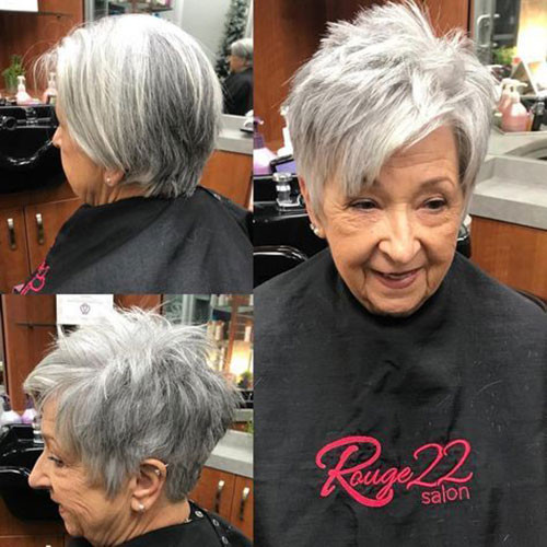 Grey-Hair Best Short Haircuts for Women Over 50