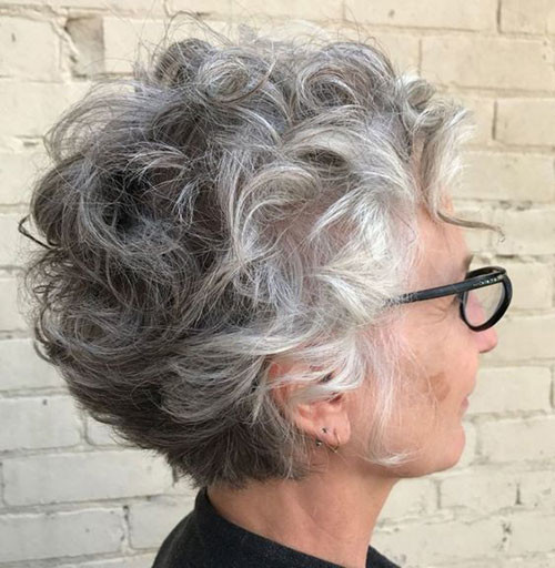Hairstyle-for-Older-Women-with-Curly-Hair Best Short Haircuts for Women Over 50