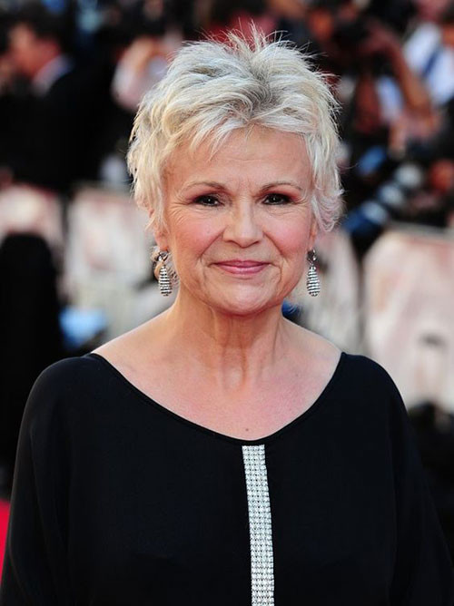 Julie-Walters Best Short Haircuts for Women Over 50