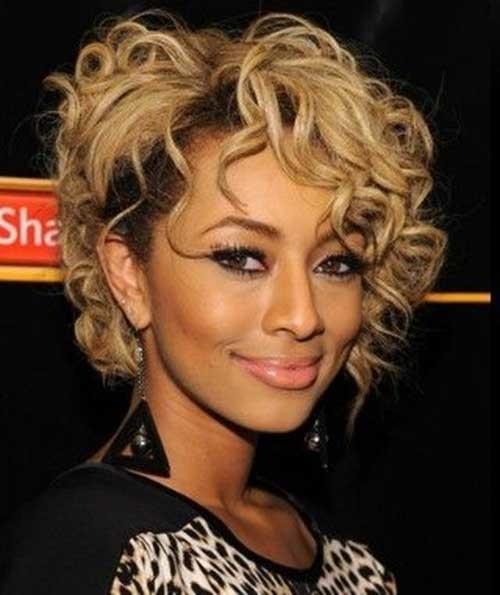 Keri-Hilson-Blonde-Bob-Hair-with-Messy-Curls Keri Hilson Blonde Bob Hairstyles