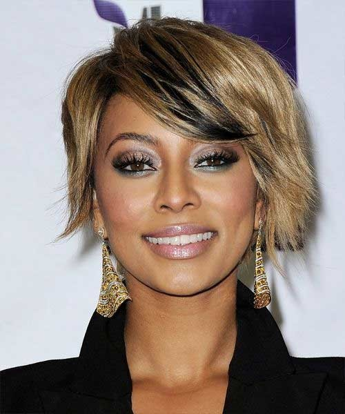 Keri-Hilson-Blonde-Choppy-Bob-with-Dark-Lights Keri Hilson Blonde Bob Hairstyles
