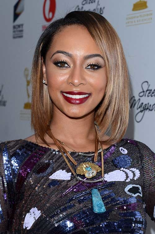 Keri-Hilson-Blonde-Long-Bob-Cut Keri Hilson Blonde Bob Hairstyles