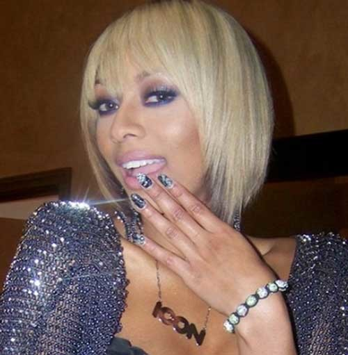 Keri-Hilson-Blonde-Straight-Bob-Hair-with-Layers-and-Bangs Keri Hilson Blonde Bob Hairstyles