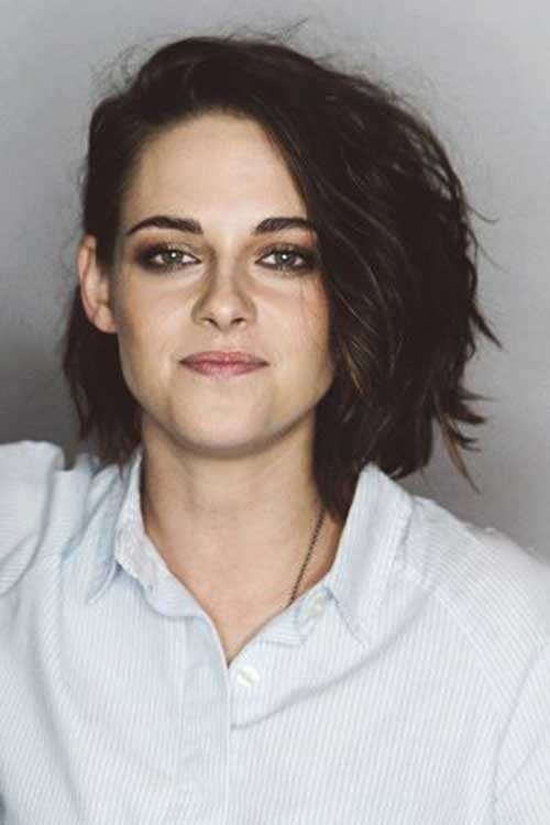 Kristen-Stewart Best Must-Try Brunette Bob Haircuts