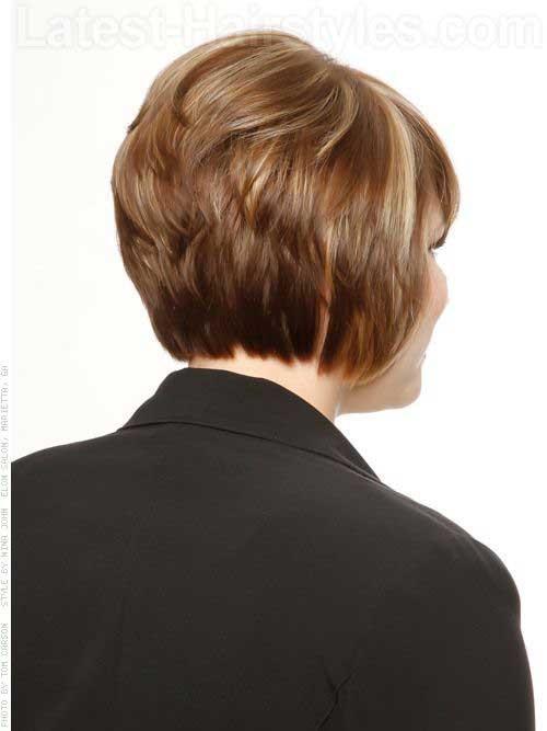 Layered-Back-Short-Bob-for-Women Short Bob Hairstyles for Women