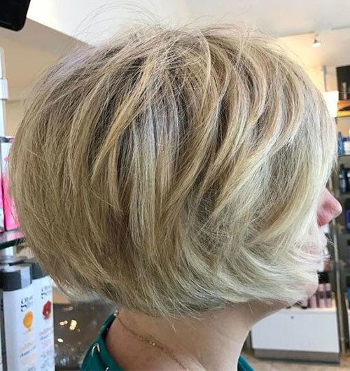 Layered-Haircut Various Short Blonde Bob Hairstyles