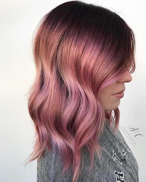 Layered-Long-Bob Nice Short Hairstyle Ideas for Teen Girls