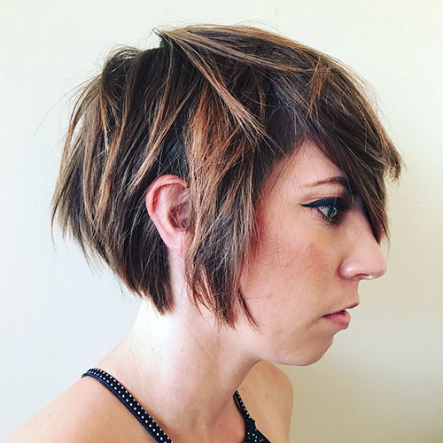 Long-Layered-Pixie-Haircut Best Short Layered Pixie Cut Ideas 2019