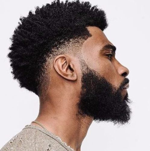 Low-Fade-and-Full-Beard Must-Try Hairstyles For Black Men